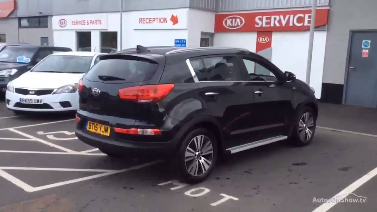 kia sportage crdi kx 3 sat nav black 2015 youtube. Black Bedroom Furniture Sets. Home Design Ideas