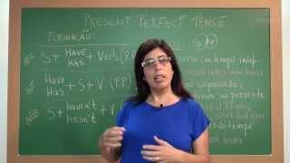 Inglês - Aula 01 - Present Perfect Tense:  Formação e Usos