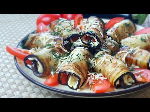 Eggplant with cheese and tomatoes // Simple appetizer of eggplant