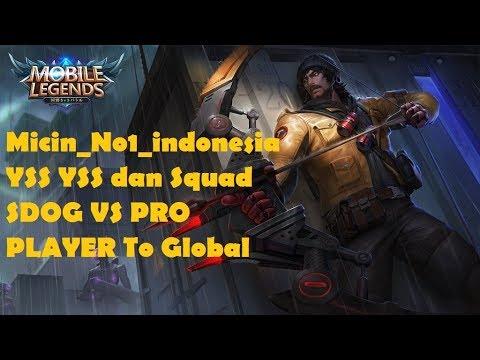 Squad SDOG VS Top Global Pro Player ,, Micin no 1 indonesia YSS
