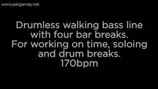 Drumless Walking Bass Line: 170bpm