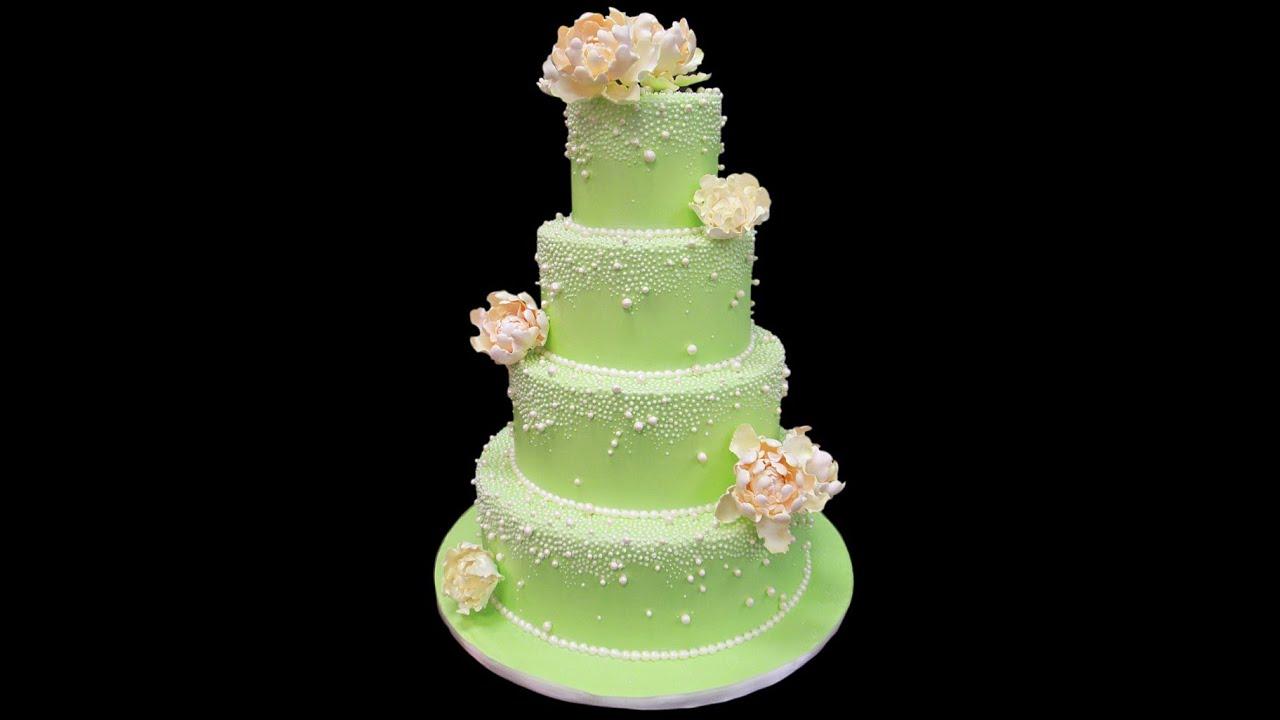 Pearl Peony Wedding Cake YouTube - Peony Wedding Cake