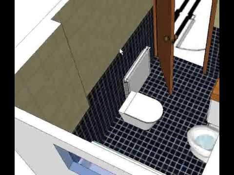 Ba o sketchup youtube for Manija para taza de bano