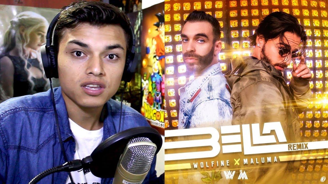 Bella Remix, Wolfine y Maluma (Video Oficial) Mujer tan bella Reaccion #1
