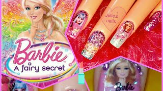 Barbie fairy secret gel nails
