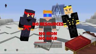 Minecraft PS4 Bed Wars: No Resource Challenge!!