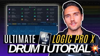 The ABSOLUTE BEST wąy to do drums in Logic Pro X (10.5 UPDATE) | Drum Machine Designer Tutorial