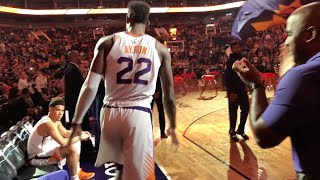 I SAT ON THE PHOENIX SUNS BENCH FOR A GAME!! *VIP BACKSTAGE FOOTAGE*