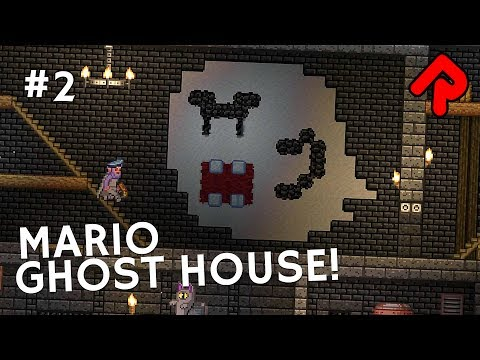 Mario's Ghost House...in Space! | Let's play Starbound Haunted Station ep 2