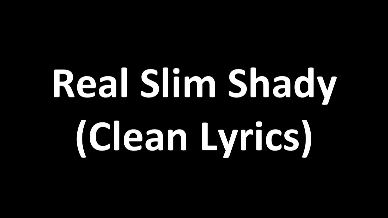 the real slim shady lyrics pdf