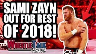 More Big Cass WWE RELEASE Details! Sami Zayn OUT For Rest Of 2018!   WrestleTalk News June 2018