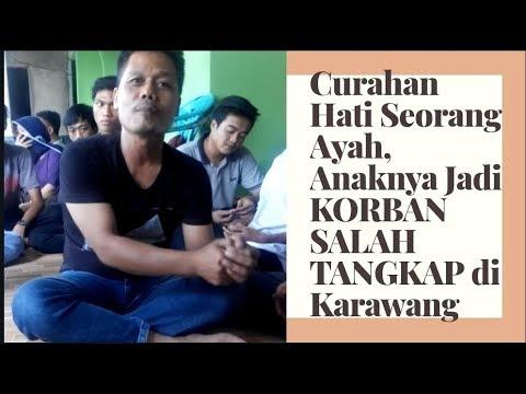Curahan Hati Ayah yang Anaknya Jadi Korban Salah Tangkap di Karawang