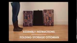 Folding Storage Ottoman Assembly Video