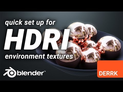How To Set Up An HDRI Environment Texture For AWESOME Reflections In Blender!