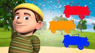 Colourful Noisy Cars At Zenon's Farm - Videos For Kids