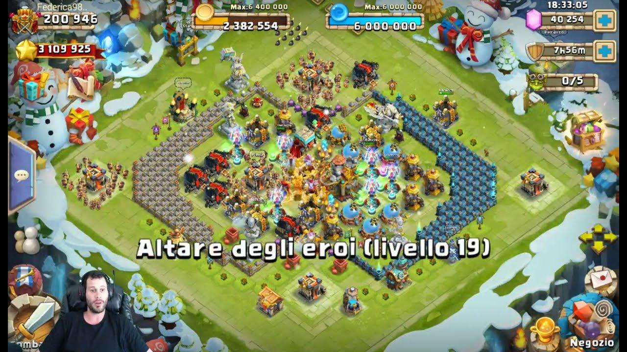 Italian Server 42000 Gems For PISTOLERA Castle Clash - YouTube