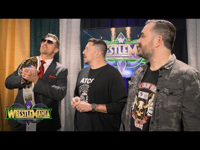 Impractical Jokers infuriate The Miz backstage at WrestleMania: Exclusive, April 8, 2018