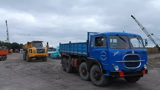 Rare! A classic Fiat 690N4 Dump Truck, Volvo A35F & Hitachi EH1100 @ Truck in the Koel 2014