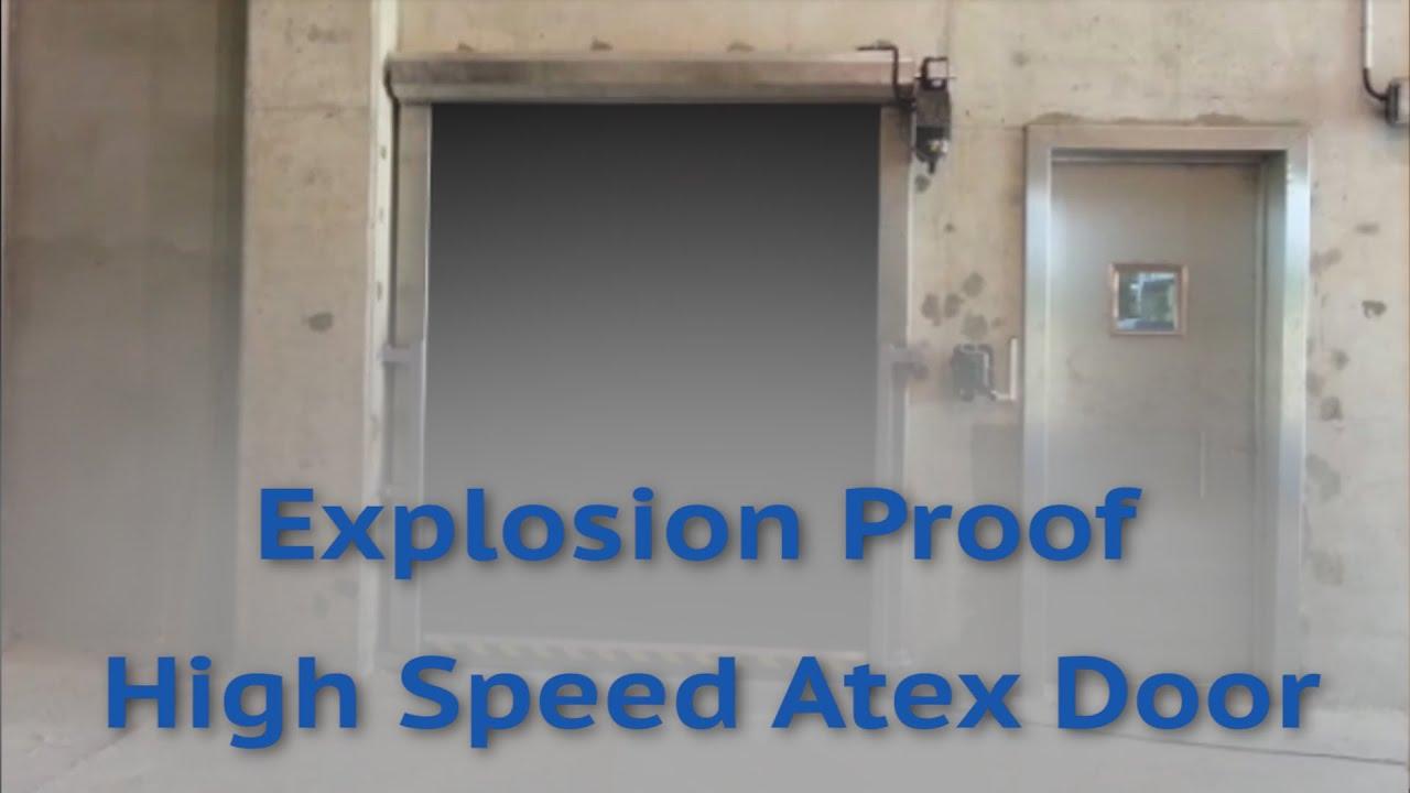 Explosion proff door - Pvc fabric high speed door for atex areas / Shipyarddoor & Explosion proff door - Pvc fabric high speed door for atex areas ...