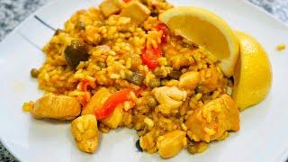 Paella de pollo | Receta típica española