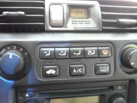1999 Accord AC control flashing  YouTube