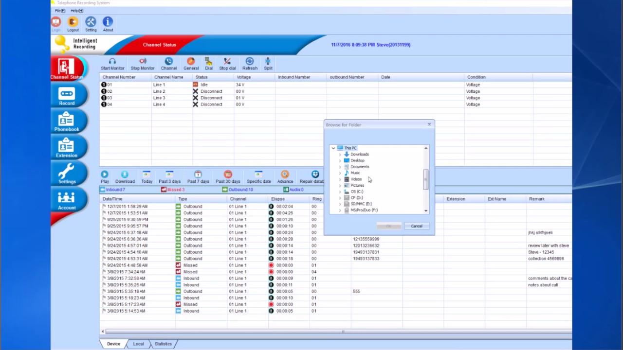 call tracker software