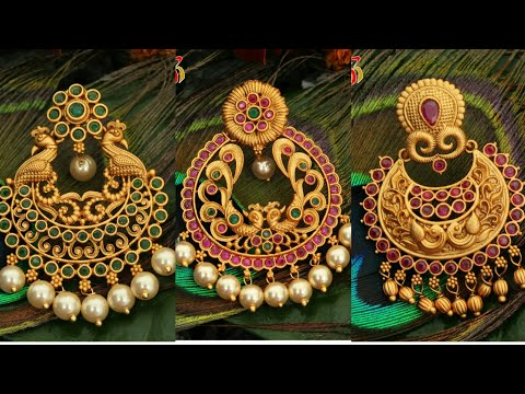 Latest 1 Gram Gold Chandbali Earrings With Price New Arrivals You