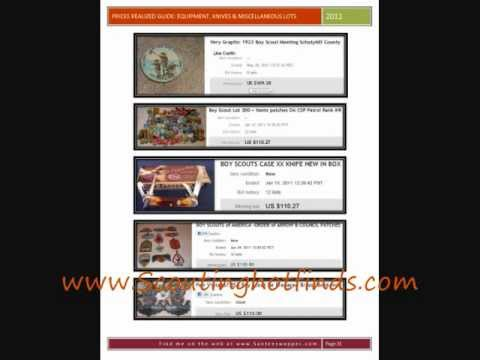 Boy Scout Memorabilia Prices Realized Guide Equipment, Knives & Miscellaneous Lots