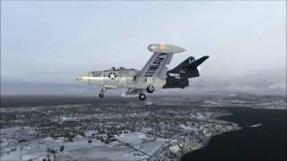 F9F Panther (Vertigo) at Whidbey Island, WA (FSX)