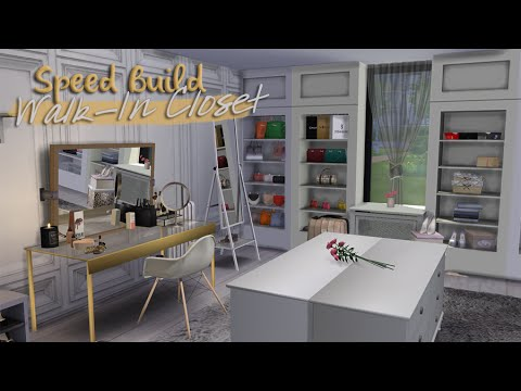 Walk In Closet The Sims 4 Speed Build Youtube