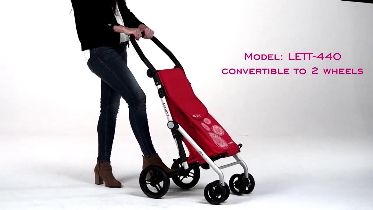 f6179990a7ce Carlett Lett440 Deluxe Folding 6 Wheel Swivel Shopping Trolley with Park  Brake