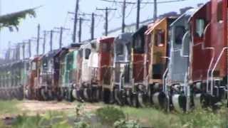 UP, BNSF, BN, AT&SF, FURX, HLMX, CSX, Conrail and so many others at Silvis, Illinois! 7/17/12