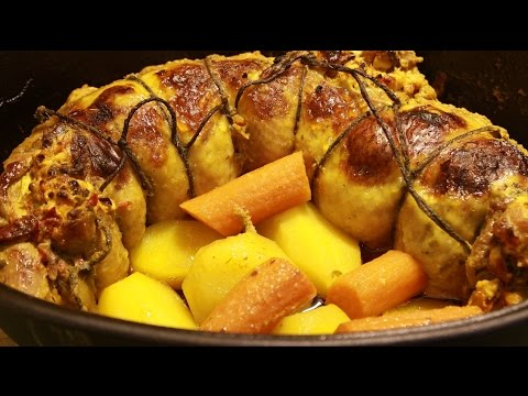 Rolovano pile recept-Rolled Chicken Recipe