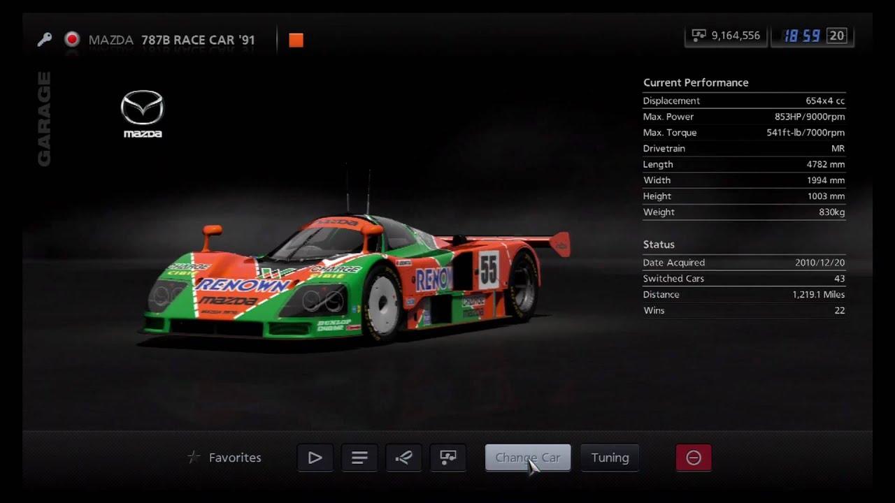 Gran Turismo 5 - Mazda 787B Race Car '91 - YouTube