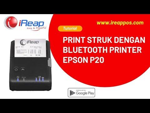 iREAP POS SUPPORT PRINT RECEIPT - Epson P20 BLUETOOTH PRINTER