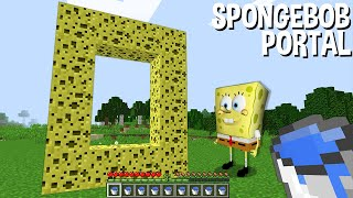 WHAT will HAPPEN if BUILD SPONGEBOB PORTAL in Minecraft ???