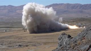 GEM 63 Rocket Motor QM-1 Static Test