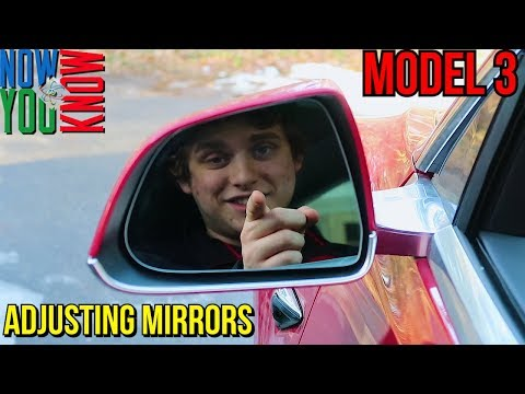 How to Adjust the Mirrors in a Tesla Model 3!