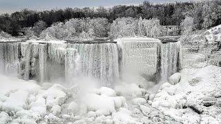 Страшные морозы в США. Замёрз Ниагарский водопад