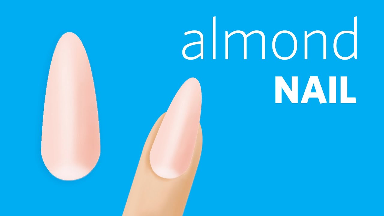 How to File Almond Nails - YouTube
