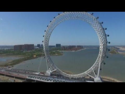 China inaugura la noria sin radios más grande del mundo, de 145 metros