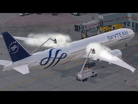 New Flight Simulator 2018 | Super Cold Departure with Airplane De-Ice - P3D 4.1 [Amazing Realism]