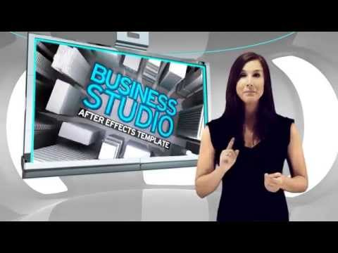 BROADCASTING VIRTUAL BUSINESS STUDIO SET - AFTER EFFECTS TEMPLATE