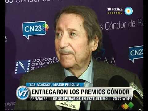 """Visión Siete: Premios Cóndor para María Julia Sandoval, Juan Manuel Tenuta y """"Función privada"""""""