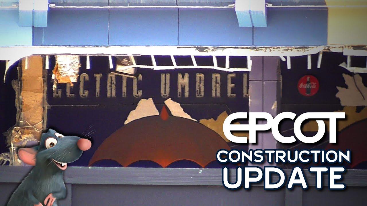 EPCOT Construction Update: Ratatouille, Guardians Coaster & Hub + Electric Umbrella Demolition