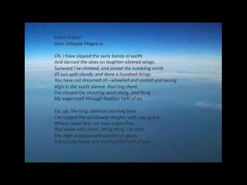 High Flight Poem By John Gillespie Magee Jr Music By Robert Thurston