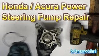 Honda Acura Power Steering Pump Repair