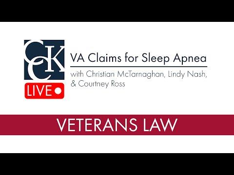 Sleep Apnea Claims at the VA - YouTube