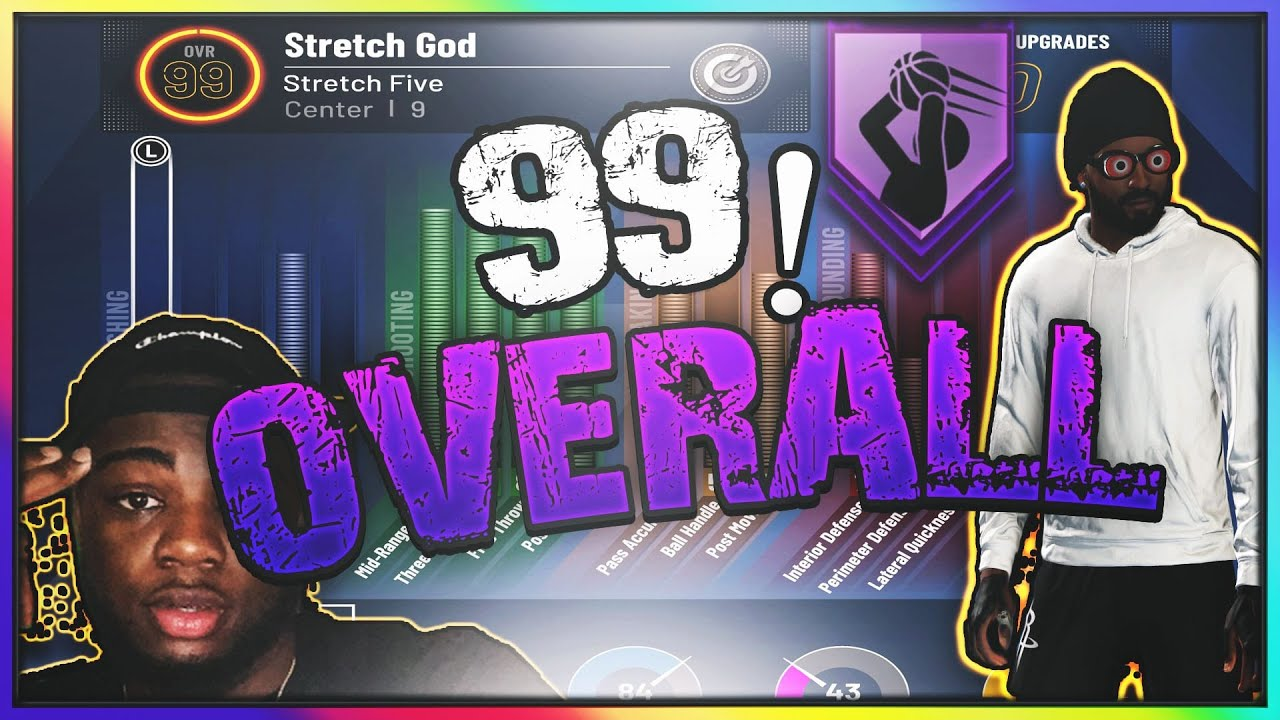 FIRST 99 OVERALL PURE STRETCH FIVE How to get 99 in less than 12 HOURS!!!!! Seven foot DEMI-GOD!!!!!