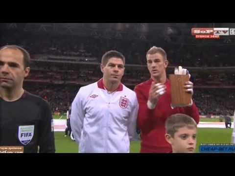 Steven Gerrard 100th Cap Award (England vs Brazil) 6-2-2013